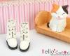 04-02 Blythe/Pullip 靴.White 白色