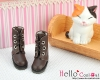 04-04 Blythe/Pullip 靴.Deep Brown 黒褐色