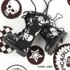 13-02 Blythe/Pullip 靴.黒い底+白ドクロ