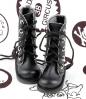 13-06 Blythe/Pullip 靴.Black 黒色