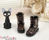 27-4 Blythe/Pullip 靴.Dark Brown 黒褐色