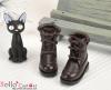 28-5 Blythe/Pullip 靴.Dark Brown 黒褐色