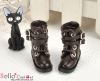 29-5 Blythe/Pullip 靴.Dark Brown 黒褐色