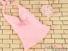 T38.【DAN-01N】SD/DD Bow Tie Halter Top # Sweet Pink