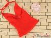 T37.【DAN-01N】SD/DD Bow Tie Halter Top # Red