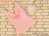 T40.【DAN-01N】SD/DD Bow Tie Halter Top # Point Pink
